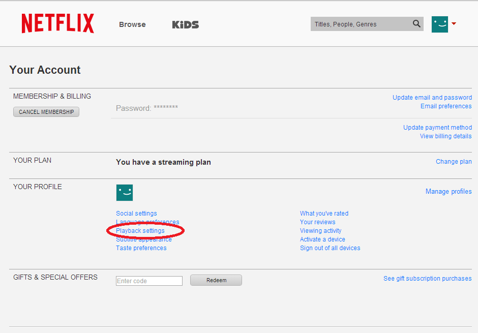 How to Manage your Netflix Bandwidth Settings